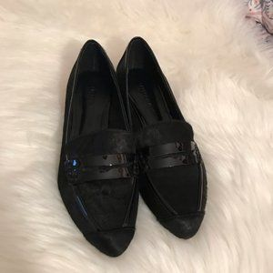 Rebecca Minkoff Black Calf Hair Loafers
